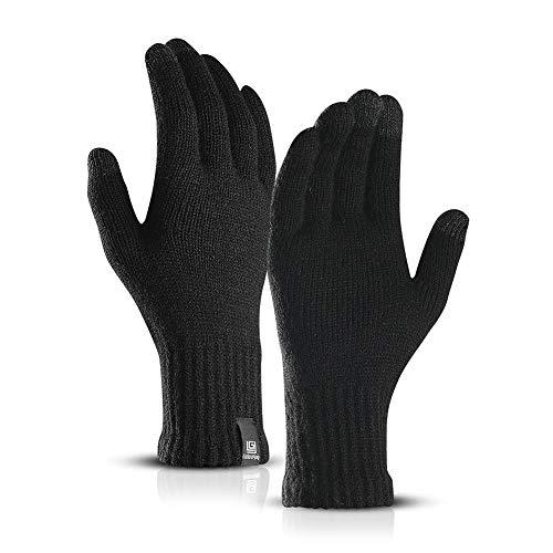 Touchscreen-Handschuhe Anti-Rutsch für Damen Herren,Fäustlinge Strickhandschuhe Outdoor-Warm-Handschuhe Wasserdichte Touchscreen Gloves Wool Plus Velvet -Handschuhe zum Telefonieren