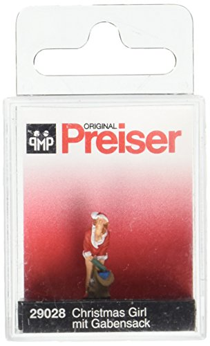 - Preiser 29028 Santa's Helper #2 with Sack of Gifts HO Model Figure