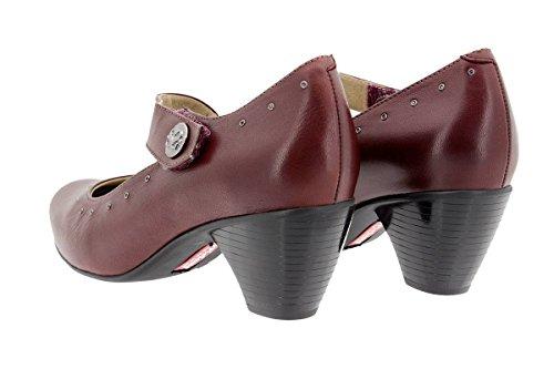 Casual 9403 Ancho Mary Confort Calzado Piel Burdeos Zapato De Mujer Piesanto Cómodo jean 4PX4qnfz0