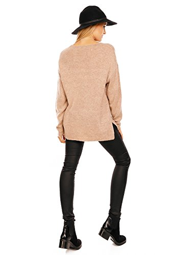 CC Donna Maglione Marrone C C Fashion fPqAxB