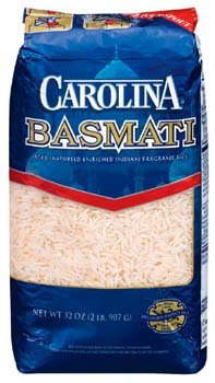 Carolina Basmati Enriched Indian Fragrant Rice 2 lbs (Pack of 12) by Carolina