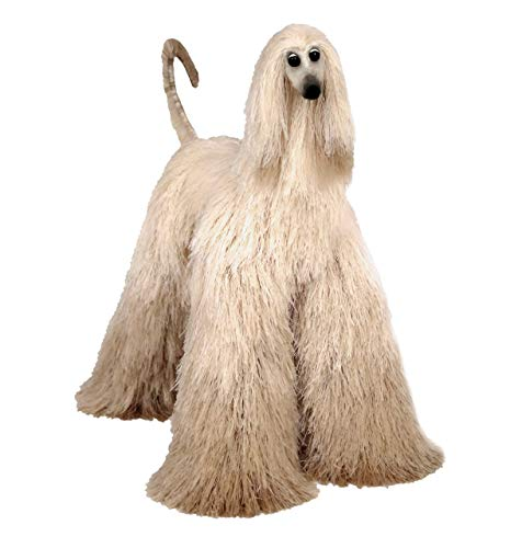 Beige Ombre Afghan Hound Poseable Miniature Cute Plush Collectible Art Doll Needle Felted Dog