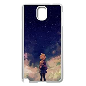 Samsung Galaxy Note 3 Cell Phone Case White_Starry Space And Anime Girl Vpyaz