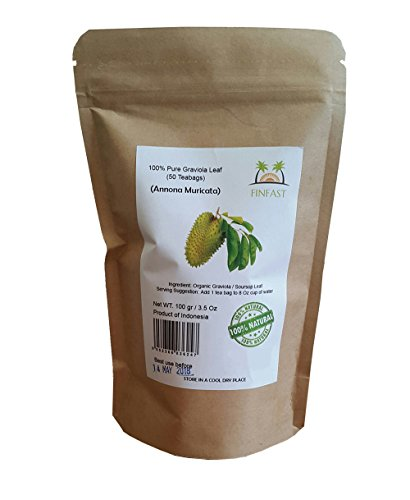 FINFAST Guanabana/Soursop / Graviola/Guyabano Leaf Tea (50 Teabags)