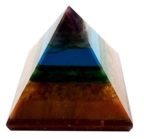 Agate Copper (Purpledip Seven Chakra Natural Pyramid: Energy Field of Amethyst, Lapis Lazuli, Green Aventurine, Camel Color Agate, Jasper Red, Red Cornelion & Copper (11677))