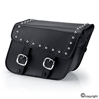 Nomad USA Leather Slanted Motorcycle Saddlebags w/ Quick Release Buckles from Nomad USA