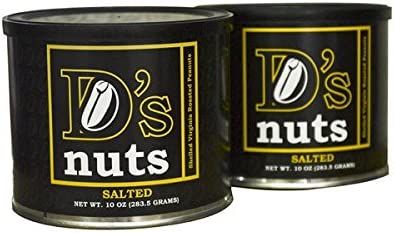 D's nuts - SXL Shelled Salted Virginia Style Peanuts - 1.25lbs