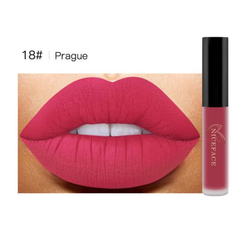 BeautyPatio Waterproof Velvet Matte Lip Gloss Makeup Bright Liquid Lipstick #18 (Fig Italian Cookies Christmas)