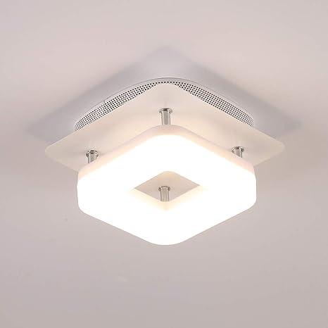 12W Luz de techo blanca Lámpara de pasillo cuadrada Luminarias Iluminación blanca cálida, superficie montada oculta Integrada Para sala de estar ...