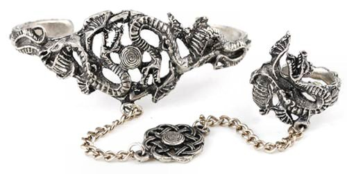 Dragon Slave Bracelet with Celtic Knot Work