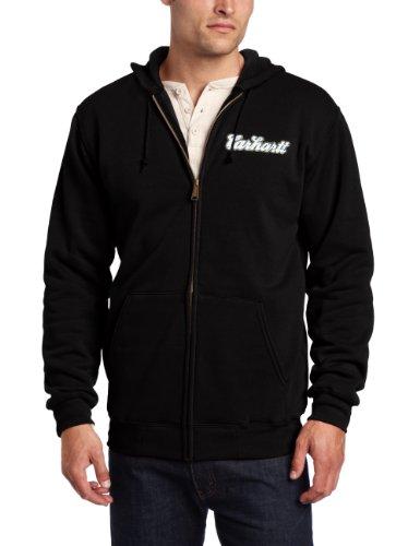 Carhartt Men's Globe Midweight Sweatshirt Hooded Graphic Zip Front Original Fit,Black (Closeout),XX-Large -