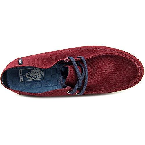 Vans Rata Vulc Sf Uomini Punta Rotonda In Tela Sneakers Nere Porta Royale / Abito Blues