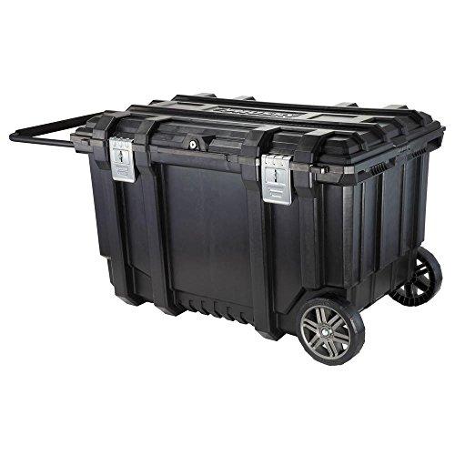 (Husky 37 in. Mobile Job Box Utility Cart Black)