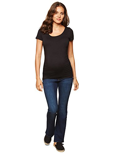 Motherhood Maternity Women's Maternity Super Stretch Secret Fit Belly Boot Cut Denim Jean, Dark Wash, - Denim Jeans Bootcut Blue