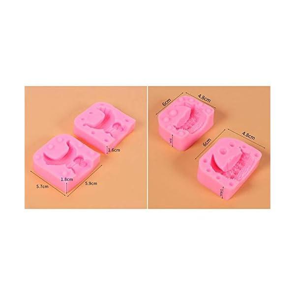 UMTGE - Vaschetta per cubetti di ghiaccio in silicone e flessibile per bambini, con caramelle, budino, gelatina, succo… 2 spesavip