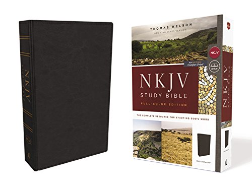 (NKJV Study Bible, Leathersoft, Black, Full-Color, Comfort Print: The Complete Resource for Studying God's Word)