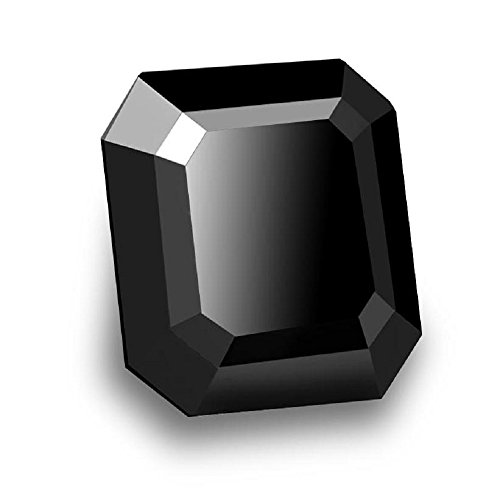 Skyjewels Certified 2.50 Ct Radiant Cut Certified African Black Diamond by skyjewels