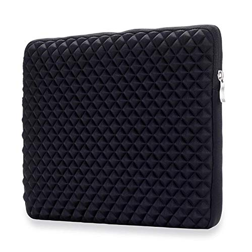 Jennyfly 13 inch MacBook Sleeve Cover MacBook Carrying Bag Case with Zipper Anti-Scratch Protection Cover Slim 360° Protective Laptop Sleeve Briefcase for 13-13.3 inch Laptop MacBook Tablet - Black by Jennyfly