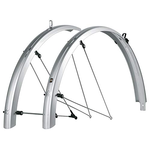 SKS B53 Commuter 2 Bicycle Fender Set (Silver, Fits Tire Sizes 700 x 38)
