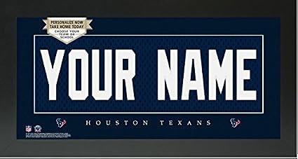 Cheap Houston Texans NFL Custom Jersey Nameplate Framed Sign  supplier