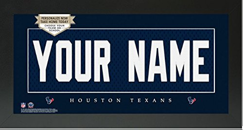 Houston Texans NFL Custom Jersey Nameplate Framed Sign ()