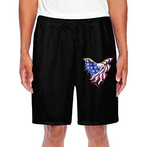 HNN Men's Eagle And Flag Equal Strong Performance Shorts - Patch Snowboard Beanie