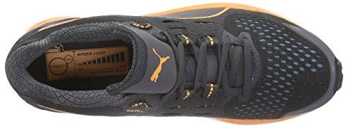 Puma Speed 1000 S Ignite - Zapatillas de running Hombre Gris - Grau (asphalt-black-orange pop 02)