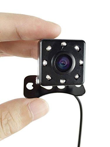 Car Rear Backup Camera 8 IR Night Vision Waterproof,Butterfly Sized Camcorder Wide View Angle – Shockproof...