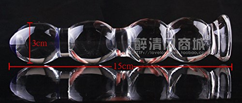 Akstore New Top Sex Toys Transparent Glass Crystal Stimulate Stimulation Stimulator Anal Plug Adult Toys Penis Stick Sex Devices Sex Toys for Women and Men。Sex Fetish Crystal Glass Anal Plug Anal Beads Sex Bean Adult Stimulator Sm Toys for Female G Spot