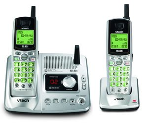 Vtech ia5870 - 5.8 GHz Two Handset cordless Phone System w/ Digital Answering Device & Caller ID -