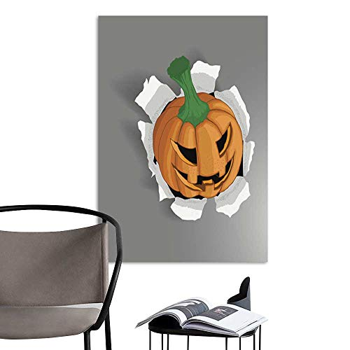 UHOO Linen Art Prints PicturesVector Halloween Pumpkin.jpg Wall Art for Bedroom Living Room 16