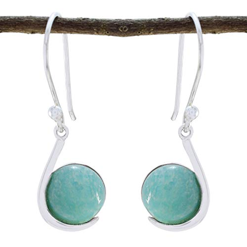 RGPL Genuine Gems Cabochon Jasper Earring - 925 Sterling Silver Blue Jasper Genuine Gems Earring - Daughter Jewelry top Item Gift for b