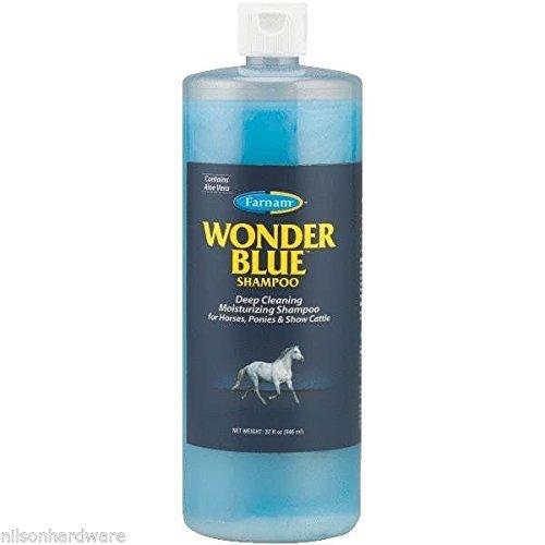 - 6 Pack Farnam Wonder Blue 32 Oz Squeeze Bottle Horse Shampoo W/Aloe Vera 32502