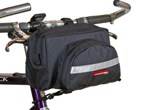 Bushwhacker Durango Black Bicycle Handlebar Bag Cycling Front Pack Bike Bag Rear Frame Accessories