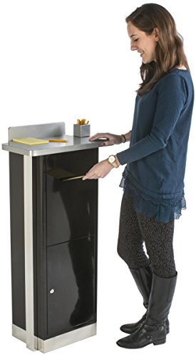 Displays2go Heavy Duty Suggestion Comment Box, Floor Standing Mail Slot, Locking (FLSDSUGBK) by Displays2go (Image #4)