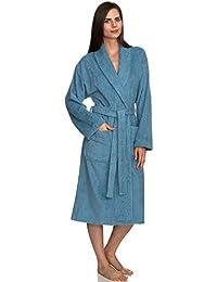 Women's Robe, Turkish Cotton Terry Shawl Bathrobe Made in Turkey