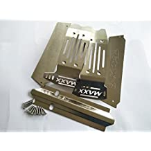 1/5 Traxxas X-Maxx &X-Maxx VXL-8s Stainless Steel Chassis Armor Skid Plate Hollow Version -5pcs set