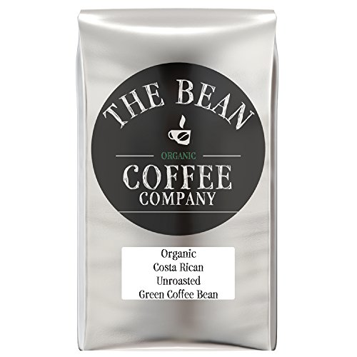 The Bean Coffee Company Organic Unroasted Green Coffee Beans, Costa Rican, 16-Ounce (Best Green Coffee Beans)