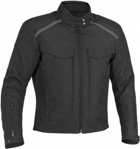 (River Road Mens Waterproof/Breathable Scout-Tex Motorcycle Jacket Black Medium M)