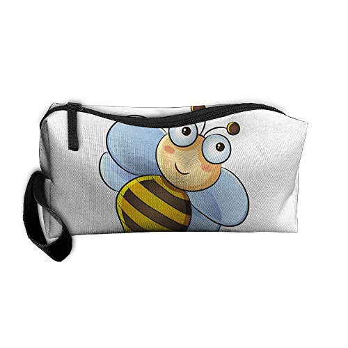Jessent Coin Pouch Big Bee Pen Holder Clutch Wristlet Wallets Purse Portable Storage Case Cosmetic Bags Zipper