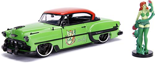 Jada Toys DC Comics Bombshells Poison Ivy & 1953 Chevy Bel Air Die-cast Car, 1:24 Scale Vehicle, 2.75 Collectible Figurine 100% Metal, Green