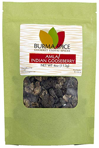 (Dried Amla (Indian Gooseberries) | 100% Pure and Kosher Certified | High content of Vitamin C (4oz.))