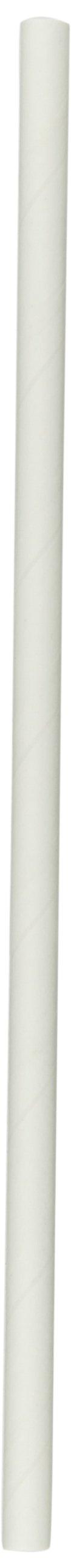 Aardvark 61500206 Unwrapped Paper Jumbo Drinking Straw, 7/32'' Diameter x 7-3/4'' Length, White (8 Boxes of 600)