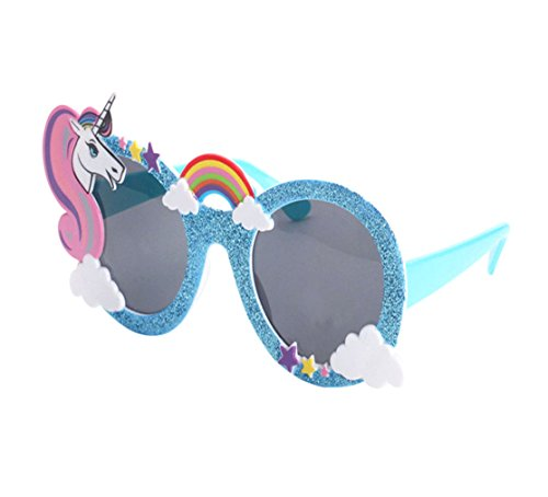 para Accesorios Unicornio sol de Night de disfraces Gafas decoración Gafas partido la Atrezzo del Good qw4HI7x