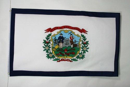 AZ FLAG West Virginia Flag 2' x 3' - US State of Virginie occidentale Flags 60 x 90 cm - Banner 2x3 ft