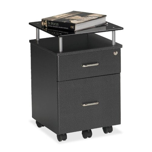 Mayline(R) Eastwinds Vision Box/File Mobile Pedestal, 24In.H X 17 1/4In.W X 18In.D, Metallic Gray/Anthracite Anthracite Mayline Office Furniture
