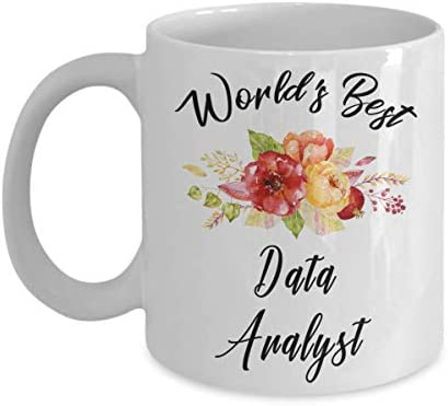 Data Analyst Mug - World's Best - Funny Novelty Ceramic Coffee & Tea Cup Cool Gifts For Men Or Women With Gift Box