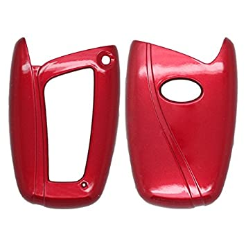 SEGADEN Paint Metallic Color Shell Cover Hard Case Holder fit for HYUNDAI Santa Fe ix45 Smart Remote Key Fob 3 Button SV0104 Black