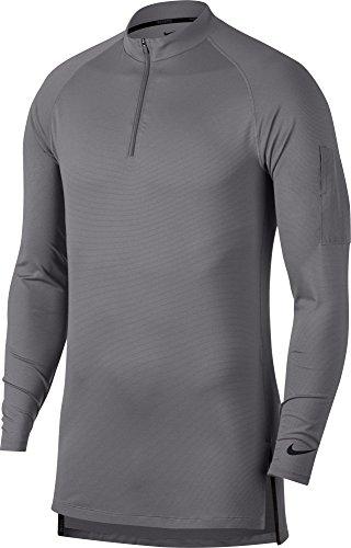 NIKE Men's Fitted Modern 1/4 Zip Training Top. (Gunsmoke/Black, X-Large) from Nike