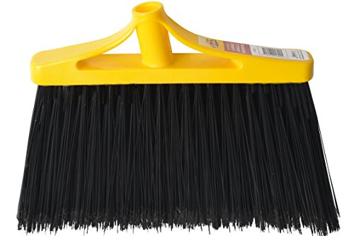 Stiff Broom Black (Bristles 4055H Angle Broom Head Only Replacement Flagged Poly Bristles, Large, Black, Pack of 1)
